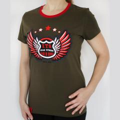 футболка STAR FITNESS хаки размер M